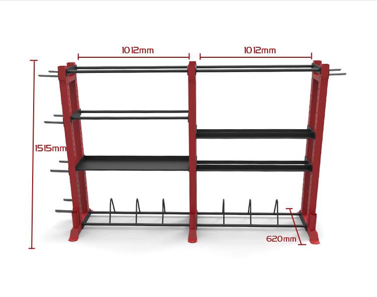 rawfitness multifunctionele opbergsysteem sportbay nlgeschikt voor olympische halterstangen van maximaal 50 mm doorsnede