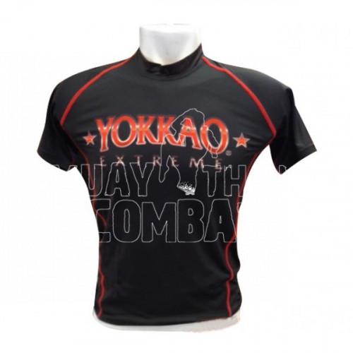 Productafbeelding voor 'Yokkao Extreme Rashguard korte mouw (zwart)'
