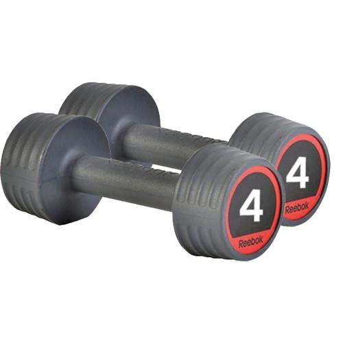 Productafbeelding voor 'Reebok Rubber Dumbbellset (2 x 4 kg)'