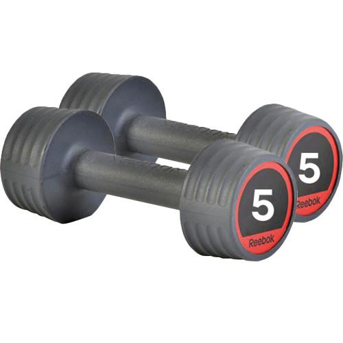 Productafbeelding voor 'Reebok Rubber Dumbbellset (2 x 5 kg)'