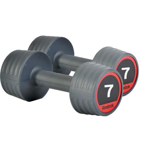 Productafbeelding voor 'Reebok Rubber Dumbbellset (2 x 7 kg)'