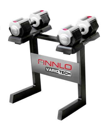 Productafbeelding voor 'Finnlo VARIOTECH dumbbells met halterstandaard'