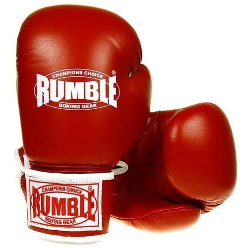 Productafbeelding voor 'Rumble bokshandschoen ready leer rood'