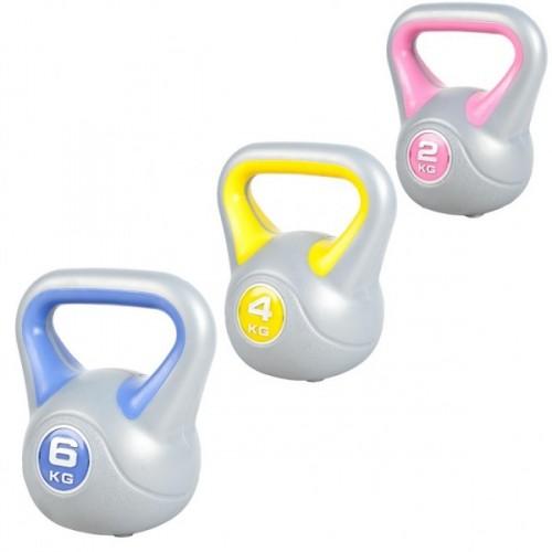 Productafbeelding voor 'Voordeelset Kettlebells 2, 4 en 6 kg'