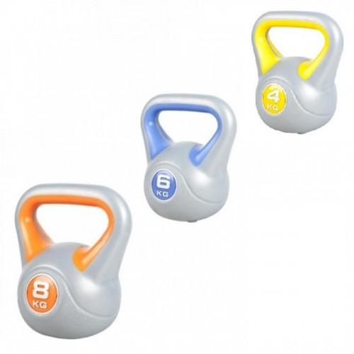 Productafbeelding voor 'Voordeelset Kettlebells 4, 6 en 8 kg'