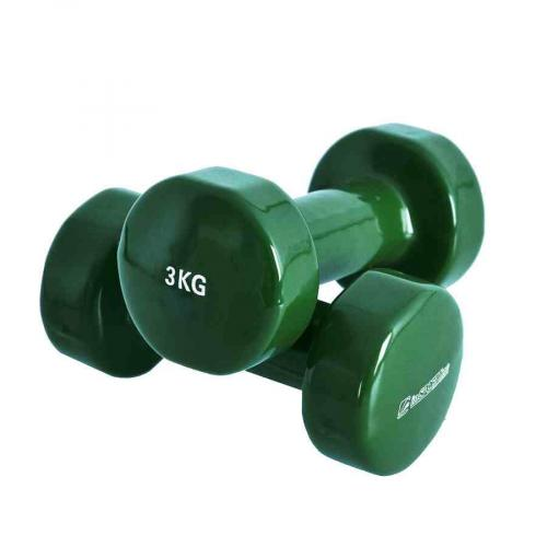 Productafbeelding voor 'Insportline vinyl dumbbell set (2 x 3 kg)'