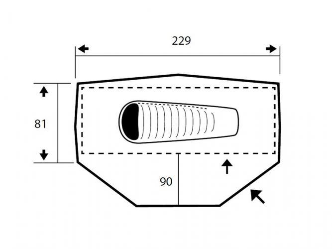 Productafbeelding voor 'Trimm ONE-DSL tent (1 persoon)'