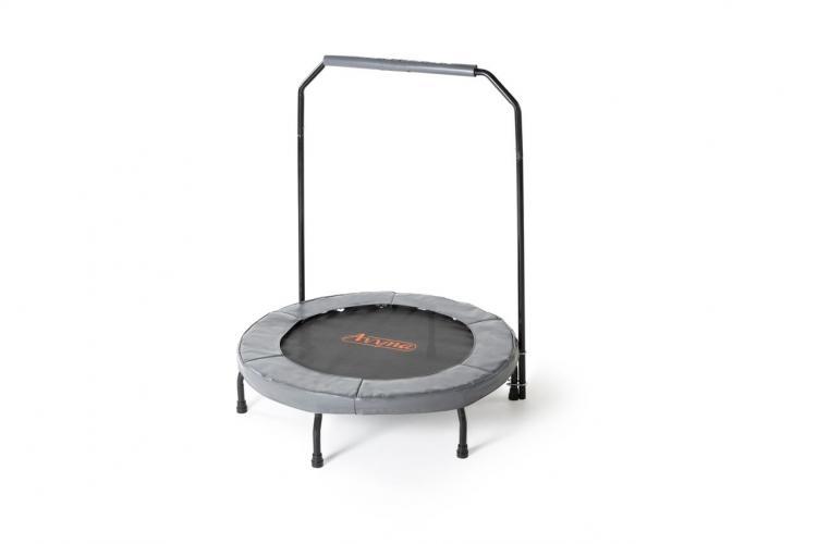 Productafbeelding voor 'Avyna fitness trampoline met beugel (grijs)'