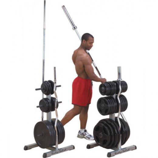 Body_solid_opbergrek_bars_and_gewichtsplaten