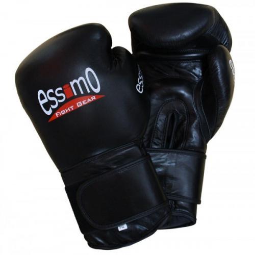 Productafbeelding voor 'Essimo bokshandschoenen leer zwart'