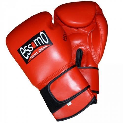 Productafbeelding voor 'Essimo bokshandschoenen leer rood'