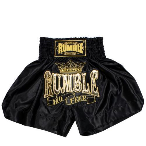 Productafbeelding voor 'Rumble kickboks broekje zwart goud'