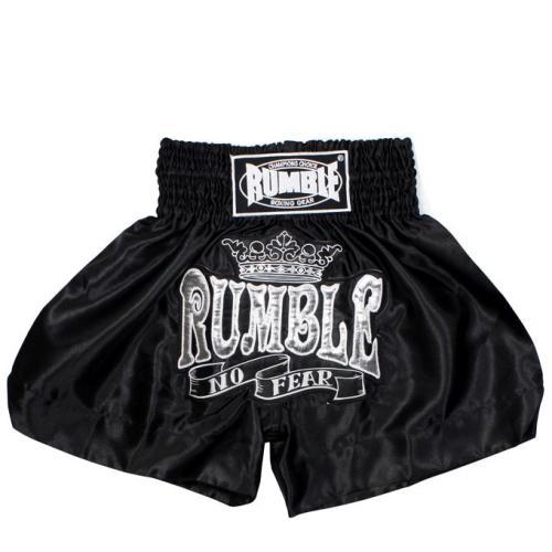 Productafbeelding voor 'Rumble kickboks broekje zwart wit'
