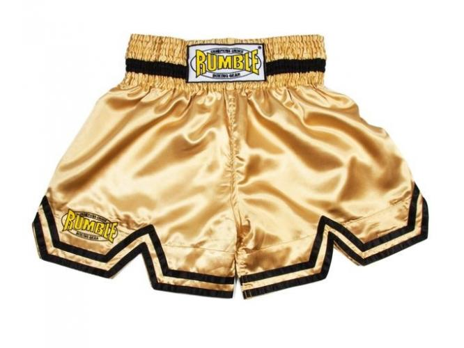 Productafbeelding voor 'Rumble kickboks broekje goud'