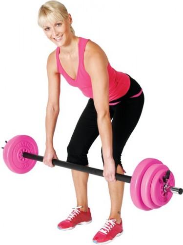 Productafbeelding voor 'GYMSTICK 20 kg pump set met trainingsvideo (Roze)'