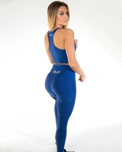 Gavelo Plain blauwe suede legging