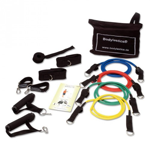 Productafbeelding voor 'FIT-LASTICS resistance tube set Trainings Kit (Level 1-4)'