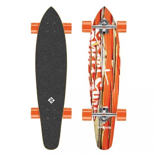 Productafbeelding voor 'Longboard Street Surfing Kicktail Damaged Oranje'