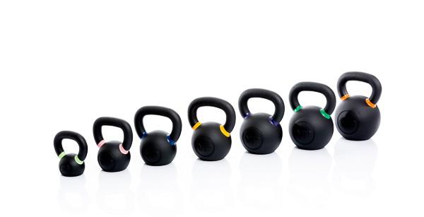 Productafbeelding voor 'Muscle Power gietijzeren kettlebells met poeder coating'