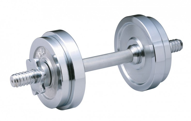 Productafbeelding voor 'BODY COACH chrome dumbbellset 10 kg'