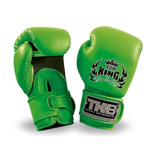Productafbeelding voor 'Top King double velcro bokshandschoen (Neon groen)'