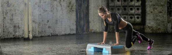 Step jezelf fit met een aerobic step